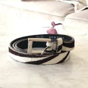 New York & Company Leather Animal Print Belt